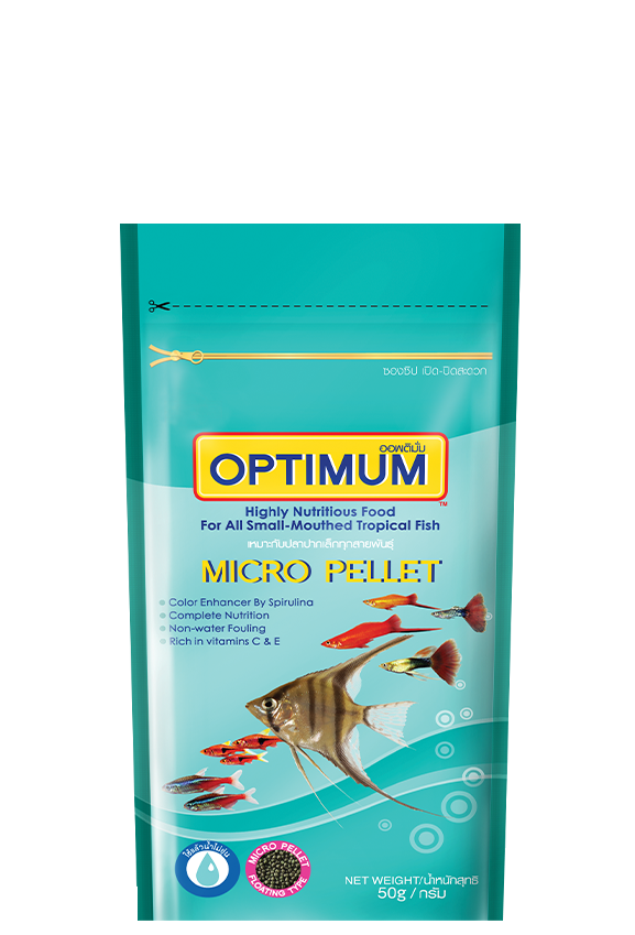 OPTIMUM HIGHLY NUTRITIOUS FOOD FOR ALL SMALL-MOUTHED TROPICAL FISH